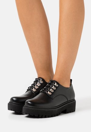 KENNETH - Lace-ups - black
