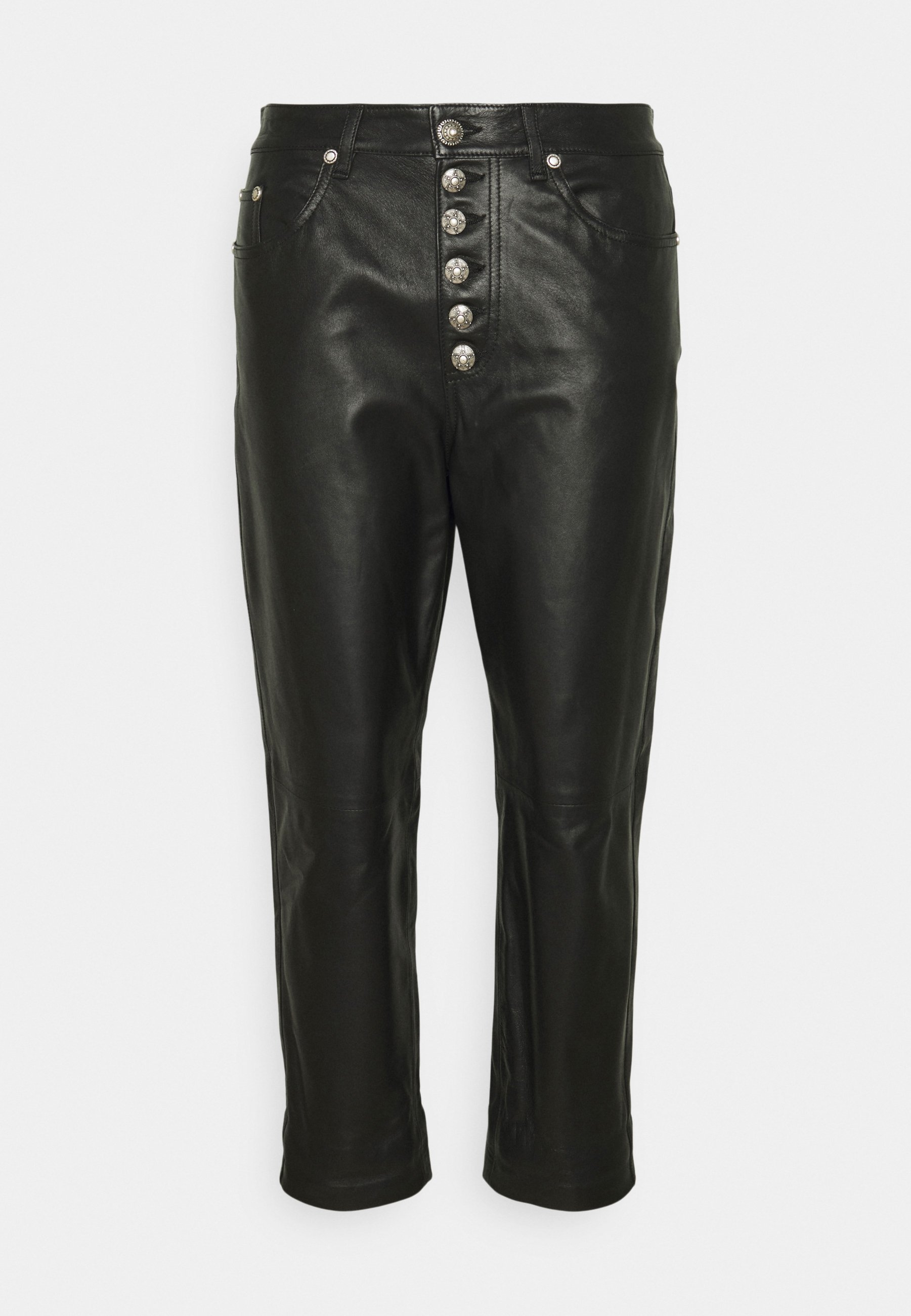 Women KOONS - Leather trousers