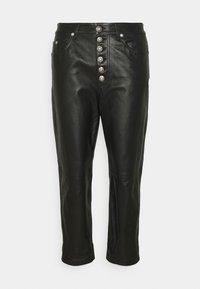 KOONS - Leather trousers - black