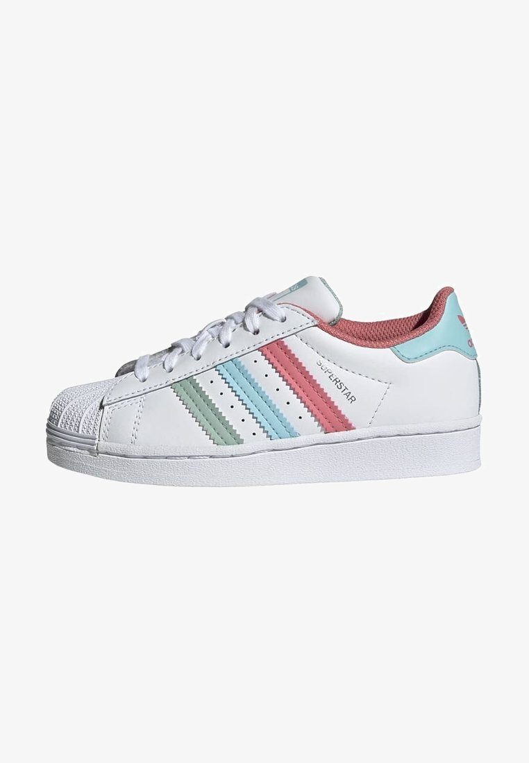 adidas Originals - SUPERSTAR UNISEX - Sneakers laag - white/hazy rose/sky