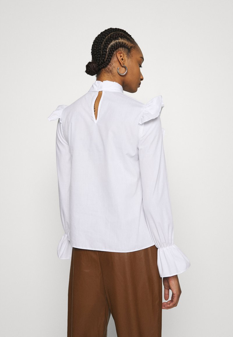 Dorothy Perkins POPLIN VICTORINA LONG SLEEVE - Bluse - ivory/offwhite StjQlD