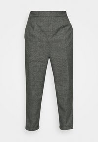 CASUAL CHECK TROUSER - Trousers - black