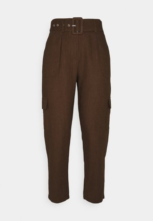 YASRIPLY CROPPED PANT - Trousers - tortoise shell
