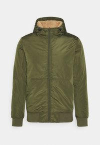 Cotton On - HOODED JACKET - Light jacket - khaki - 0
