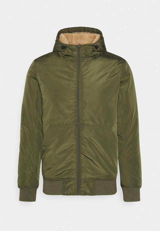 HOODED JACKET - Light jacket - khaki