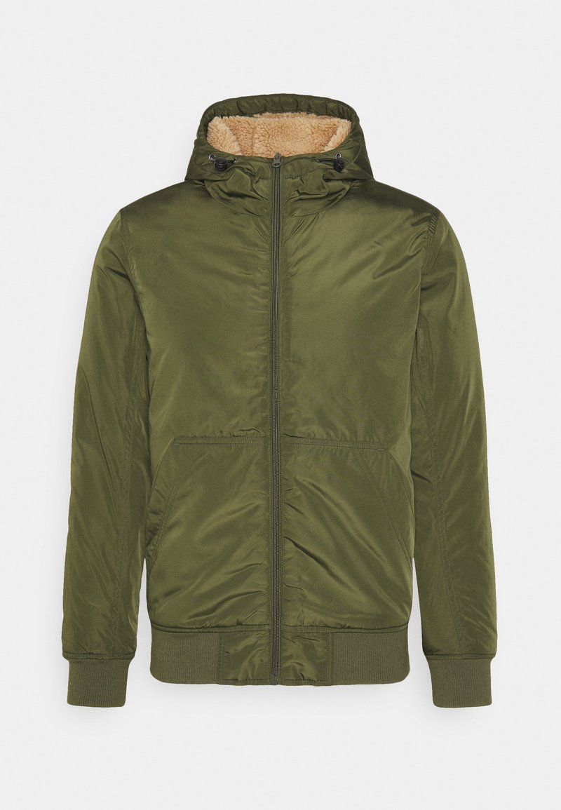 Cotton On - HOODED JACKET - Light jacket - khaki