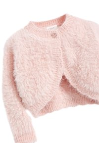 Next - PINK SPARKLE FLUFFY SHRUG CARDIGAN (12MTHS-16YRS) - Vest - pink