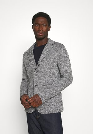 JPRBLACARTER SWEAT BLAZER - Blazer jacket - black/mixed with white