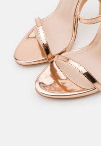 BEBO - SPARRA - Sandaler med høye hæler - rose gold metallic - 5