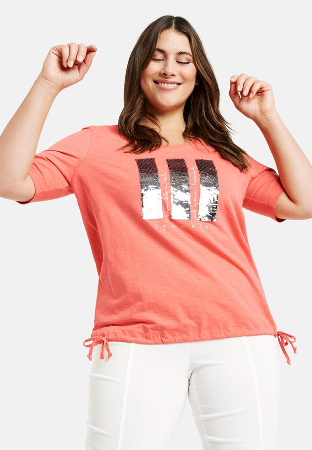 3/4 ARM - Blouse - fusion coral gemustert