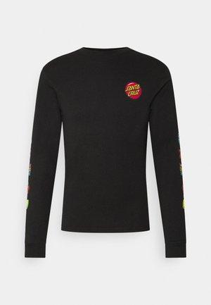 JACKPOT DOT LONGSLEEVE UNISEX - Long sleeved top - black