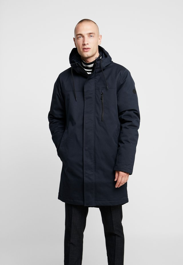 HOODED - Parka - navy