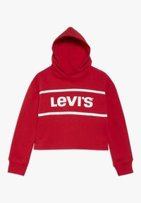 Levi's® - CROPPED BRANDED HOODIE - Mikina s kapucí - super red - 0