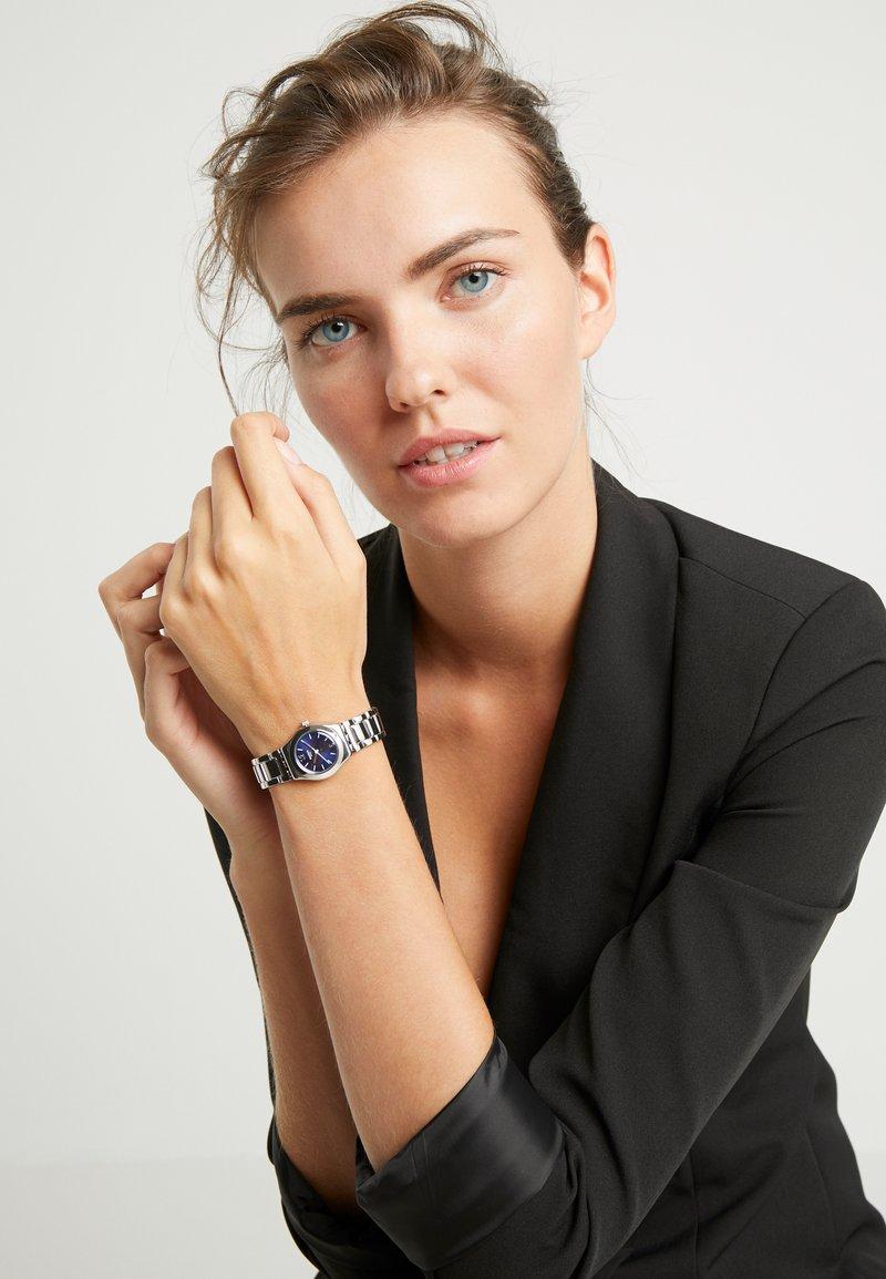 Swatch - LITTLESTEEL - Watch - silver-coloured/blue