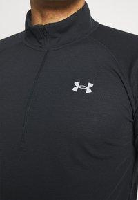 Under Armour - STREAKER HALF ZIP - Sports shirt - black - 3