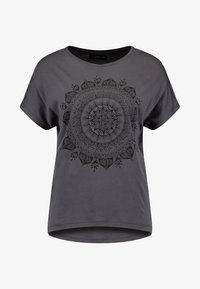 Even&Odd - T-shirt med print - anthracite - 3