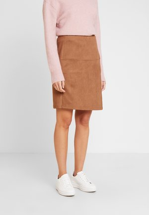 SKIRT VELOURE - Mini skirt - brown oak