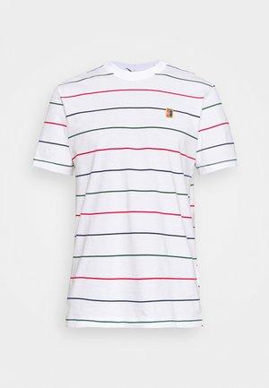 STRIPES TEE - Print T-shirt - white