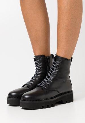 RITA ARMY BOOT  - Bottines à plateau - nero