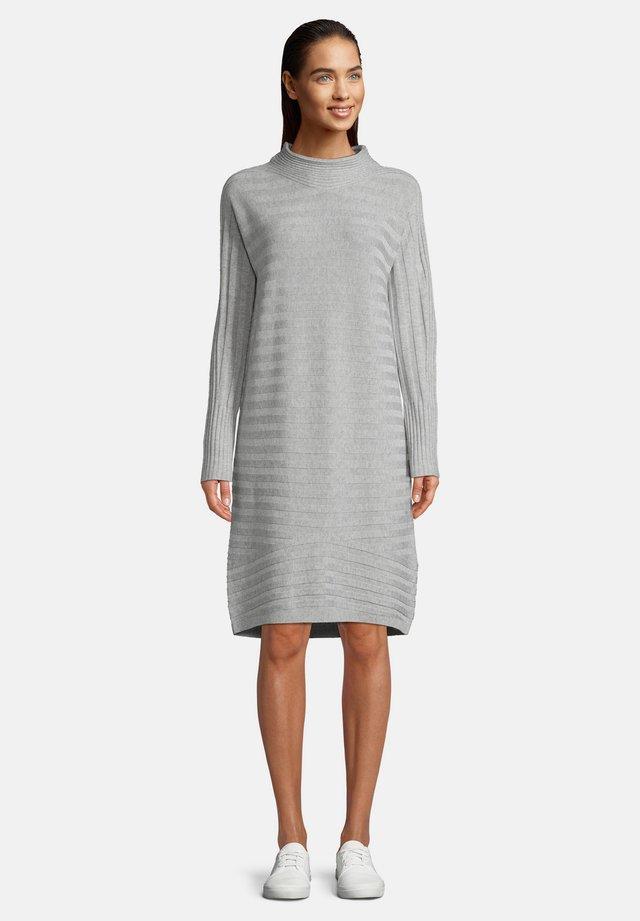 Jersey dress - light silver melange