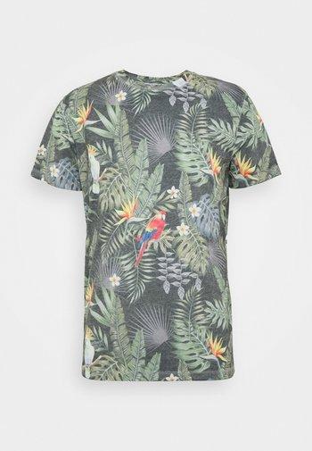 JORTROPICALBIRDS TEE CREW NECK - Printtipaita - navy blazer