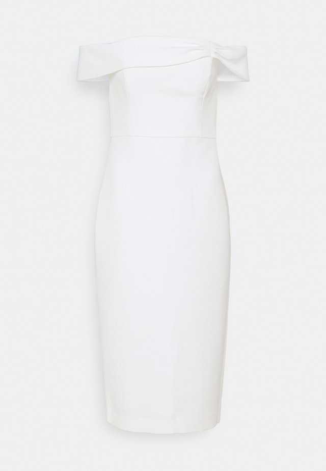 VERA OFF SHOULDER MIDI DRESS - Cocktailjurk - porcelain