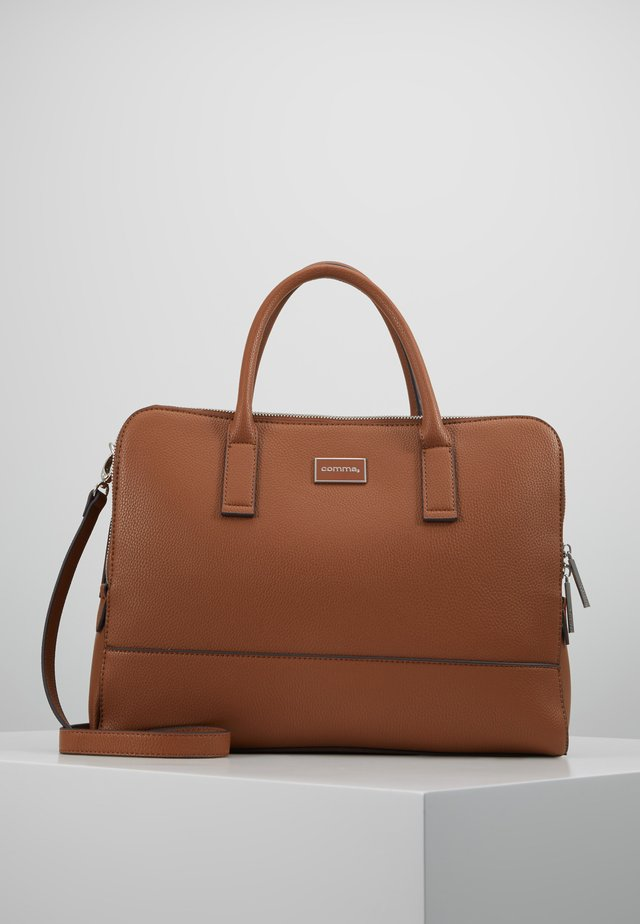 PURE ELEGANCE HANDBAG - Attachetasker - cognac