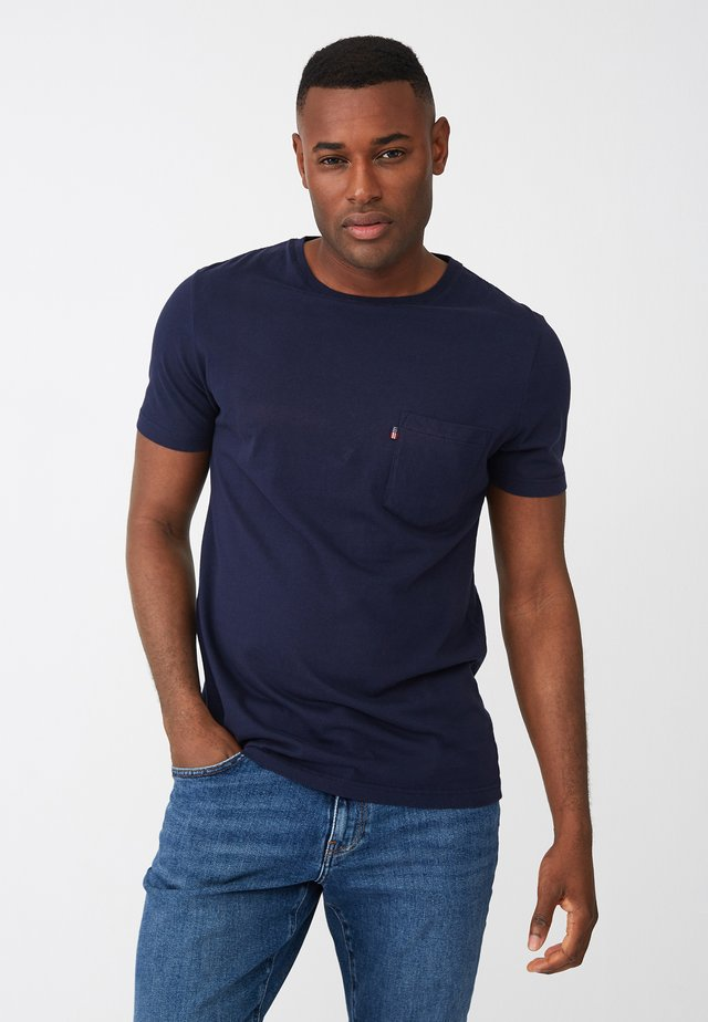 TRAVIS - Basic T-shirt - dark blue