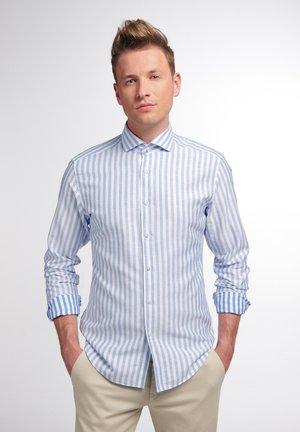SLIM FIT - Shirt - blau/weiß