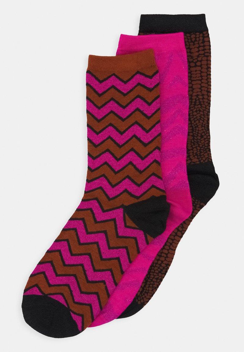 Selected Femme - SLF VIDA SOCK 3 PACK - Socks - very berry/toffee/black