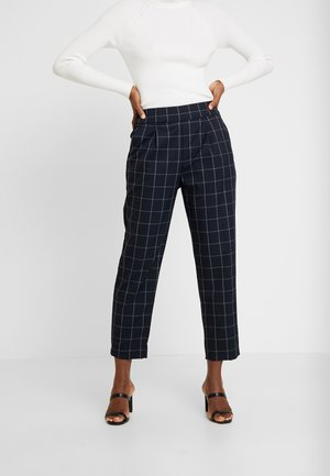 SLIM PULL ON - Trousers - navy