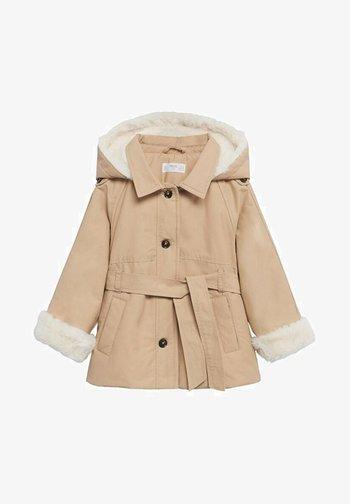 Winter coat - sandfarben