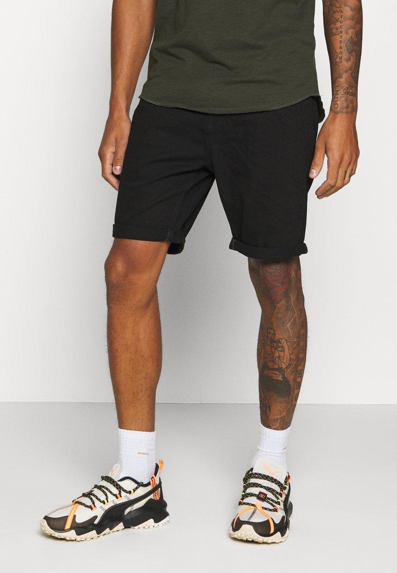 Brave Soul - Denim shorts - black