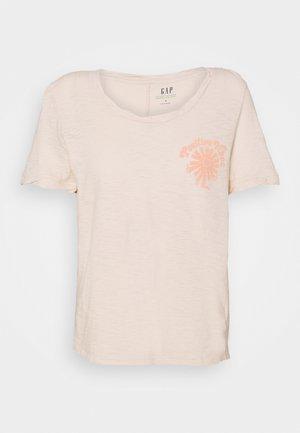 Print T-shirt - raffia