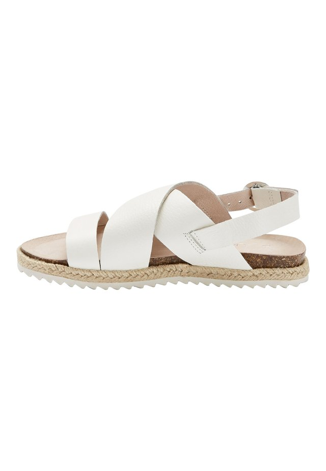 TAN LEATHER ROPE WRAP SANDALS (OLDER) - Sandály - white
