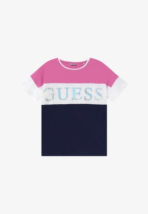 JUNIOR  - Print T-shirt - thick blue thin fuch