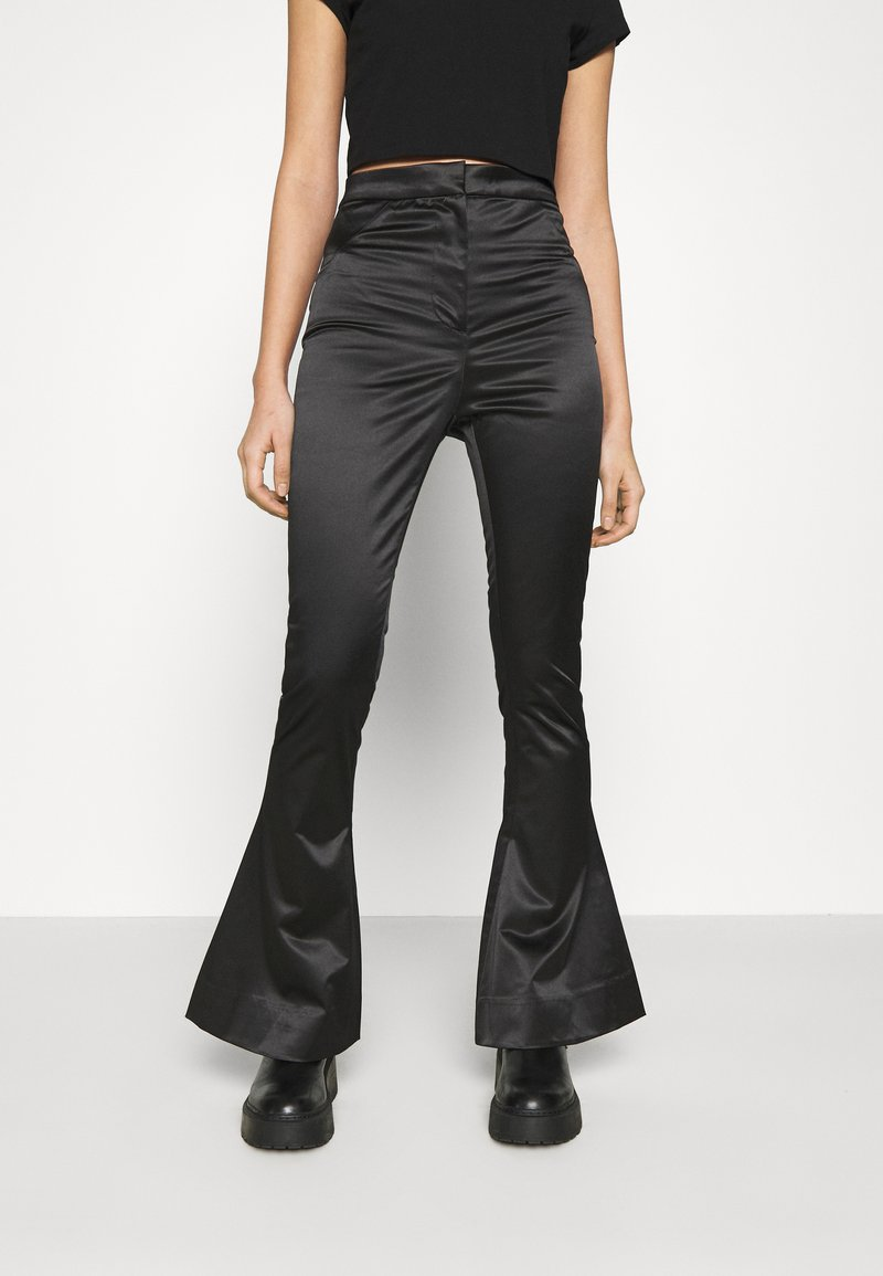 Weekday - ALECIO FLARE TROUSER - Trousers - black