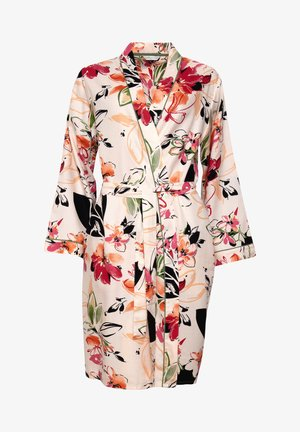 Dressing gown - peach floral