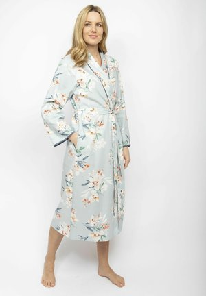 Dressing gown - grey floral