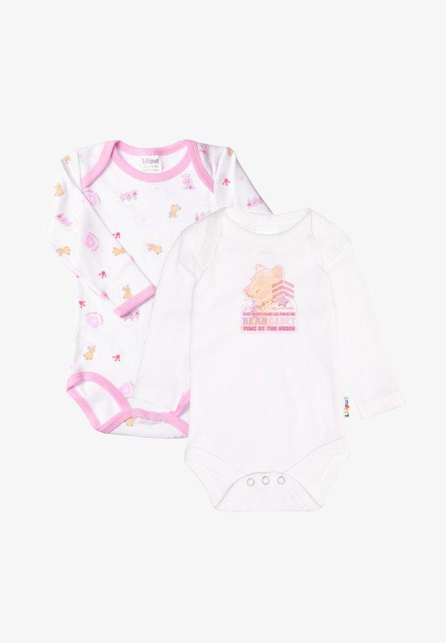 2ER PACK - Body - weiß, rosa