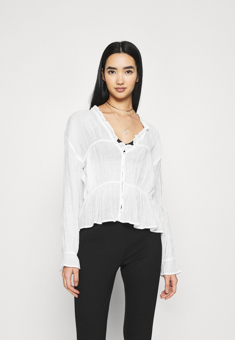 Nly by Nelly - ROMANTIC CHI BLOUSE - Bluser - white