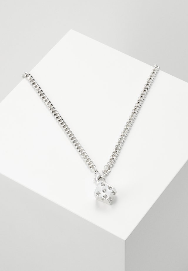 DICE NECKLACE - Ketting - silver-coloured