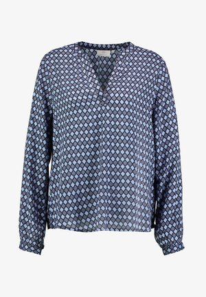 KASARY TILLY BLOUSE - Long sleeved top - midnight marine
