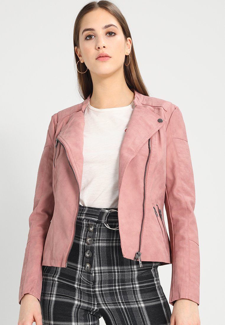 ONLY - ONLAVA BIKER  - Faux leather jacket - ash rose