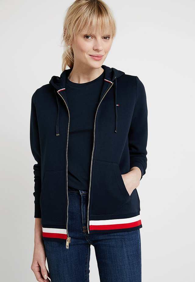 HERITAGE ZIP THROUGH HOODIE - Bluza rozpinana - midnight