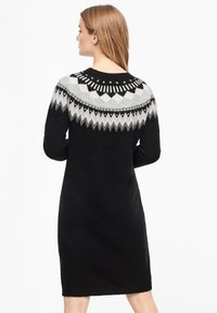 s.Oliver - MIT NORWEGERMUSTER - Jumper dress - black - 2