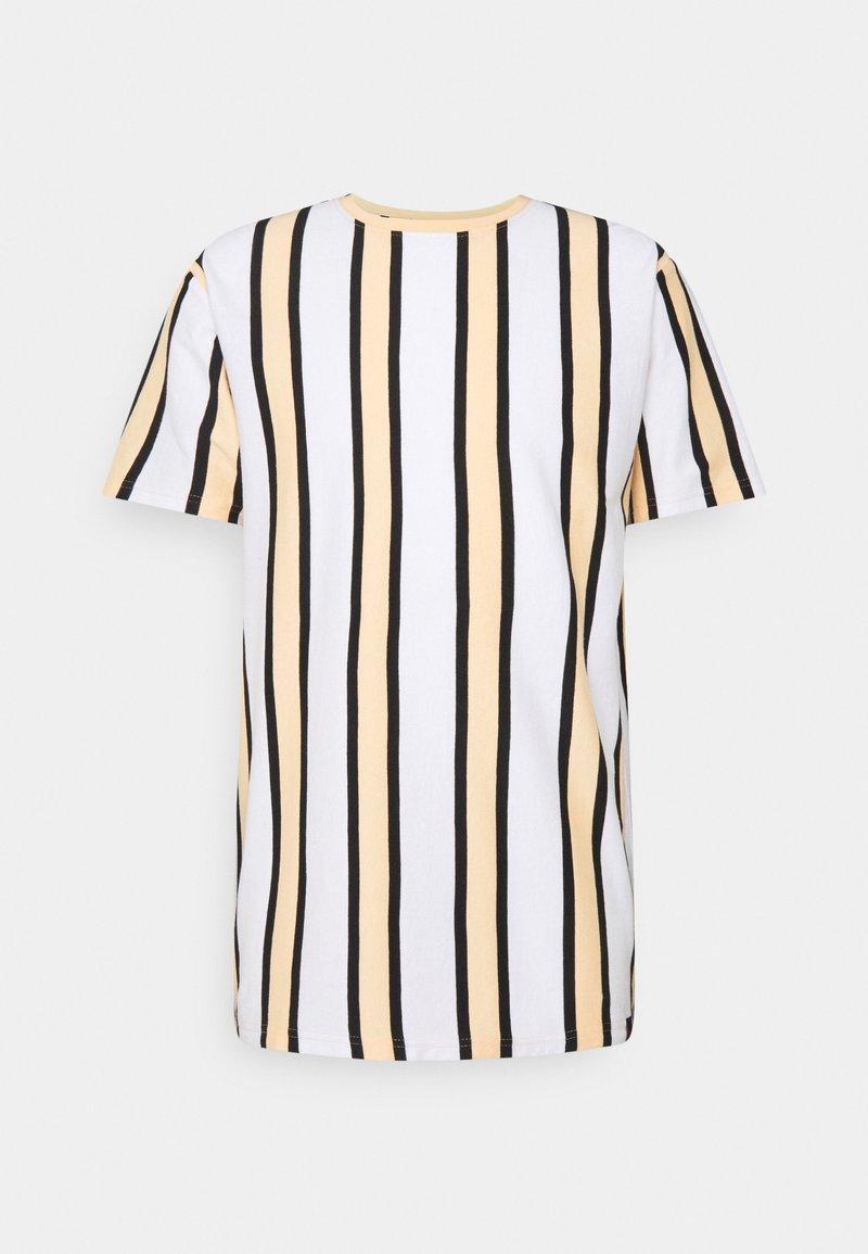 Denim Project - RAMIREZ TEE - Print T-shirt - white/peach fuzz/ black