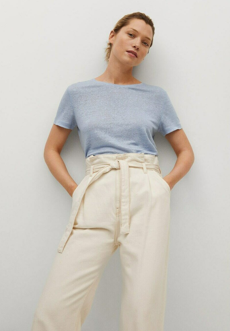 Mango - LISINO - T-shirt basique - hemelsblauw