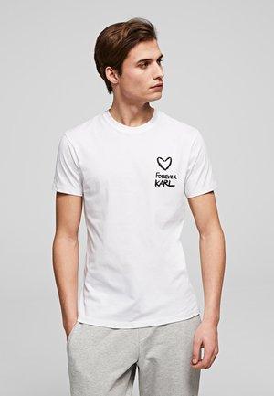 FOREVER - Camiseta estampada - white