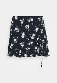 Hollister Co. - RUFFLE SKORT - Kraťasy - navy - 3
